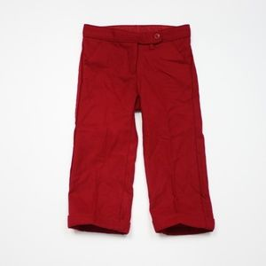 Janie and Jack Red Wool Pants Sz 12-18m